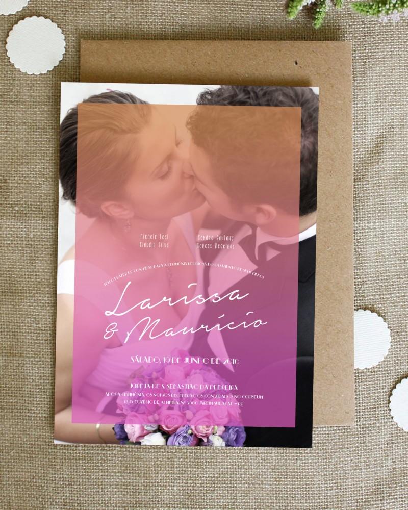convite de casamento papeleletra