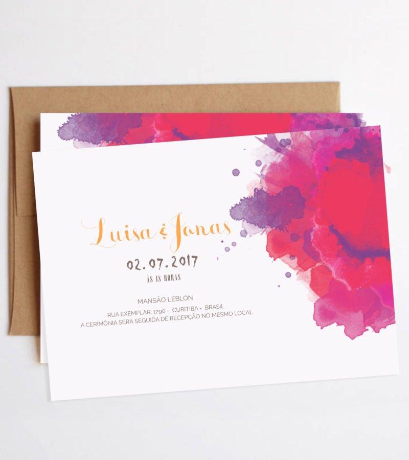 convite de casamento papel e letra 4