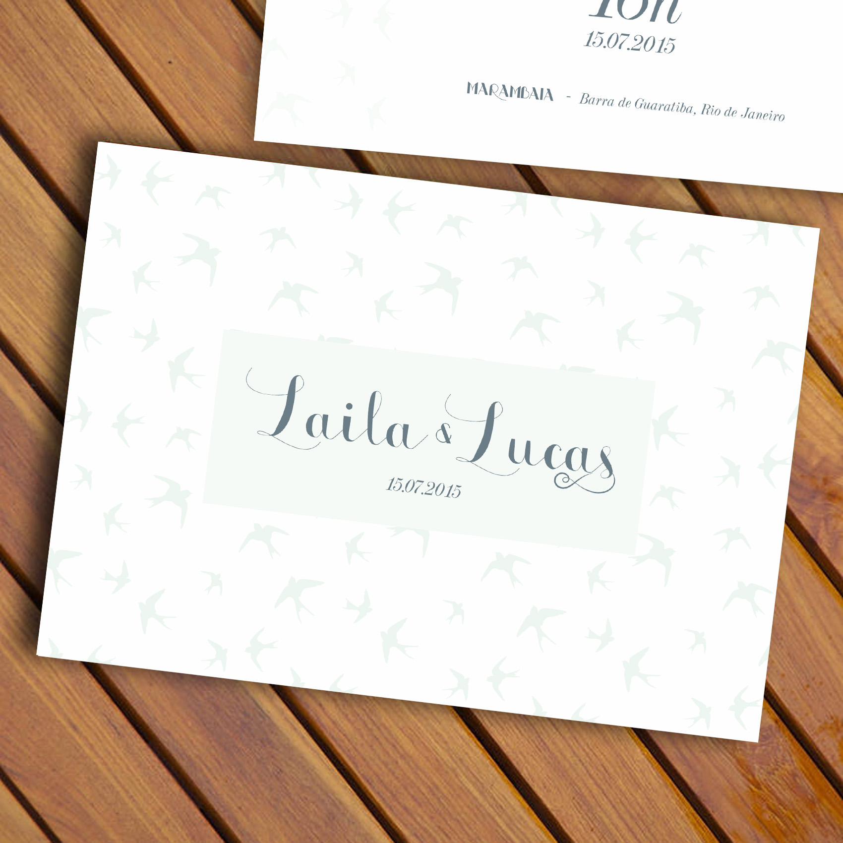 6d181c218 Convite de Casamento Ar Livre (frente e verso) – Papel e Letra ...