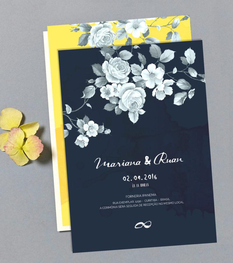 convite de casamento papel e letra 3