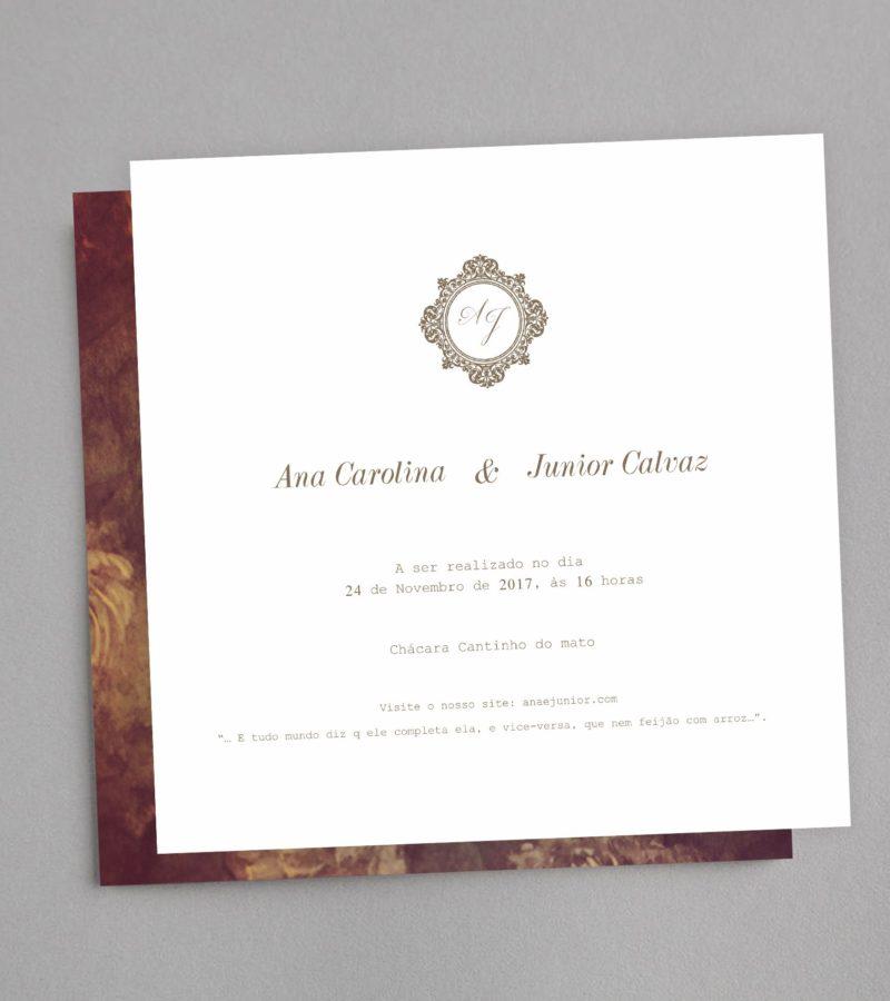 convite de casamento papel e letra 2