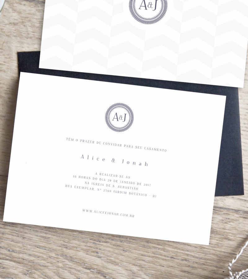 convite de casamento papel e letra