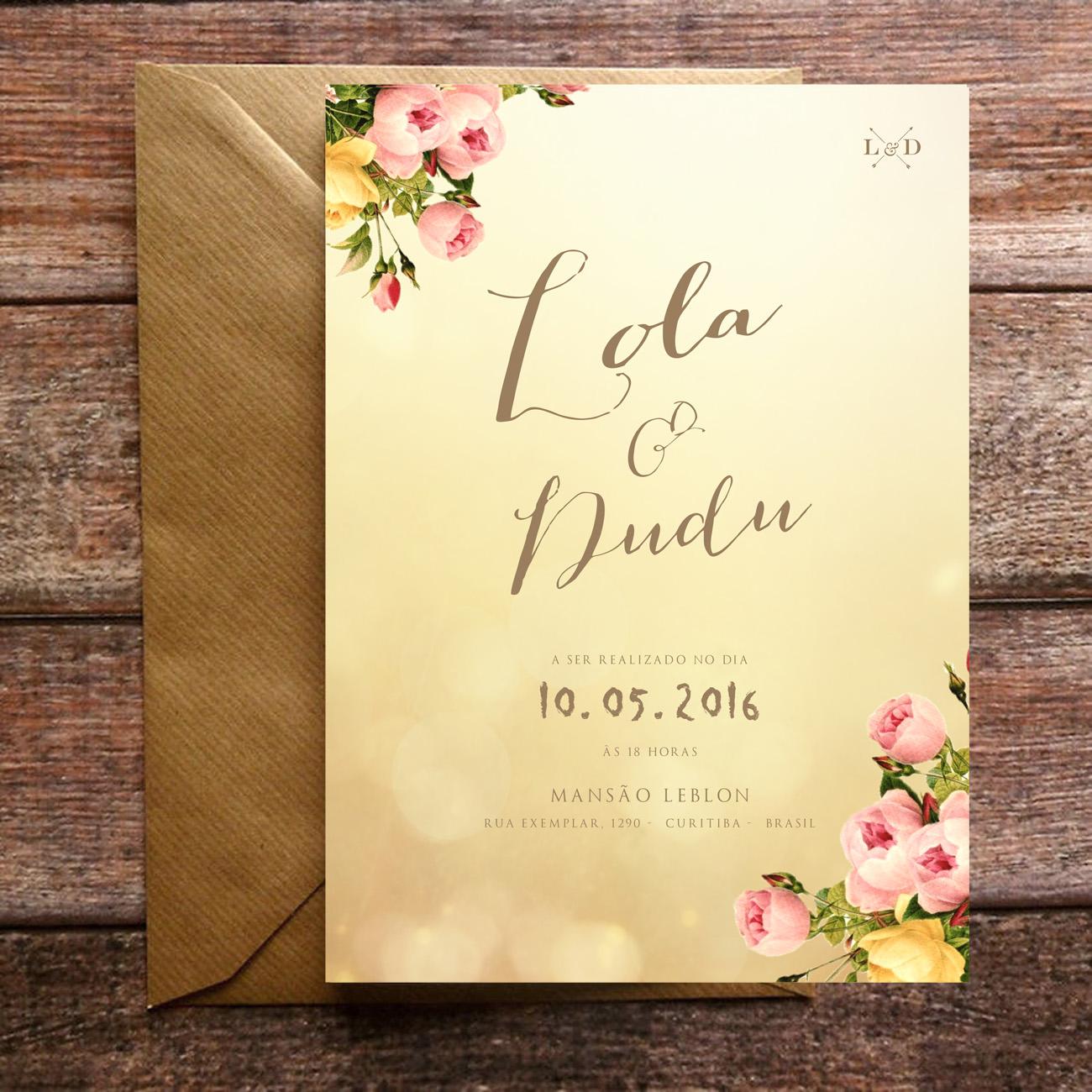 Convite De Casamento Sunshine Papel E Letra Convites De