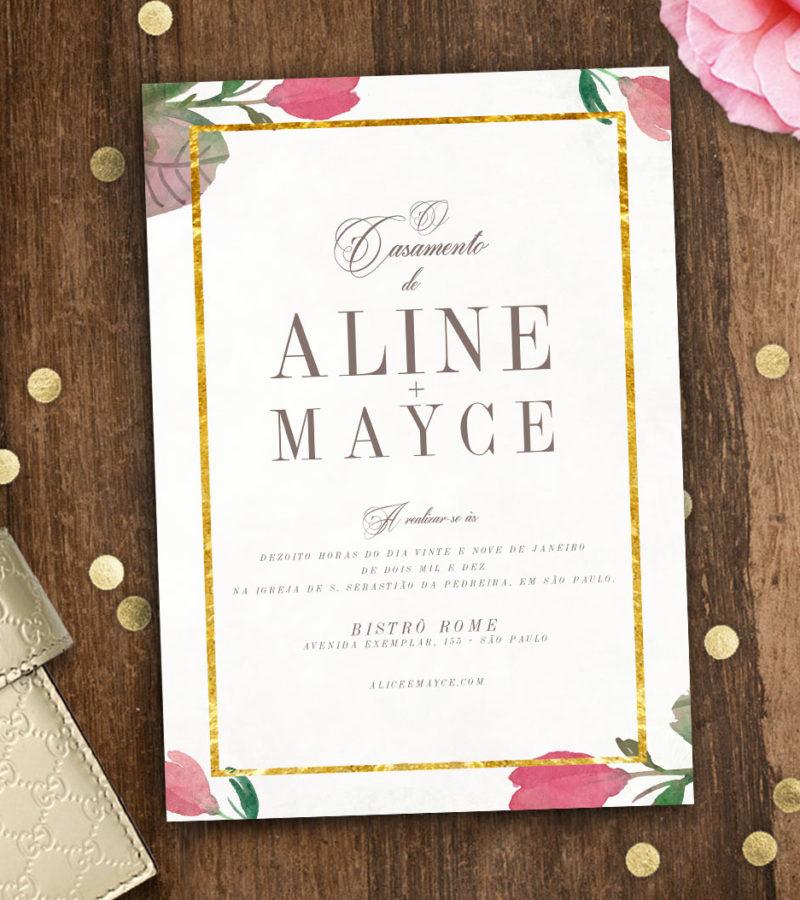 convite de casamento papel&letra 2  b