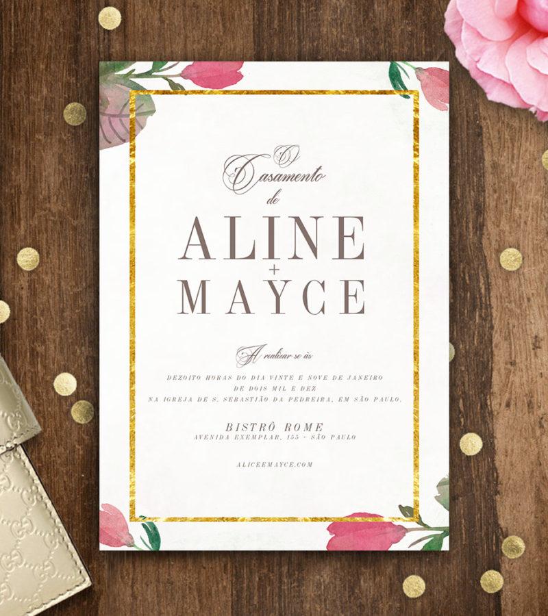 convite de casamento papel&letra  b