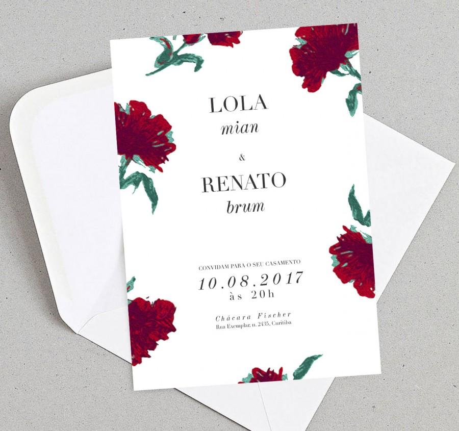 Convite de Casamento Soft Love 2 - Papel e Letra Convites