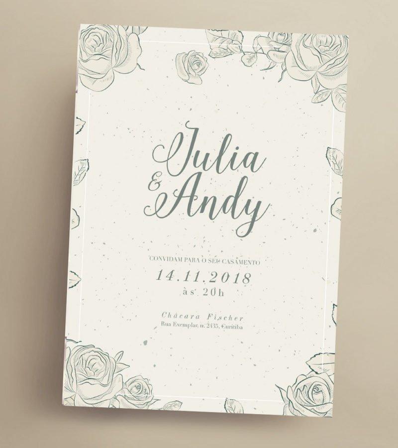 Convite de casamento - papeleletra - 2