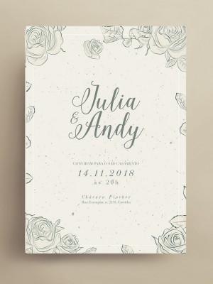 Convite de casamento - papeleletra