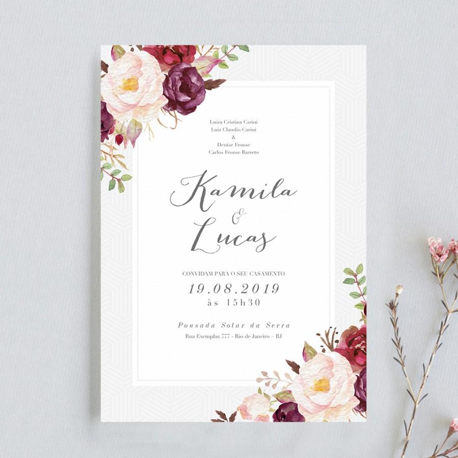 Artes De Convites De Casamento Para Imprimir Aonde Quiser